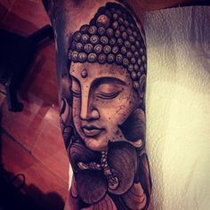 Stone Buddha tattoo Female version (Tara)