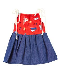 Look at this #zulilyfind! Blue & Red Kinsley Dress - Infant & Kids #zulilyfinds
