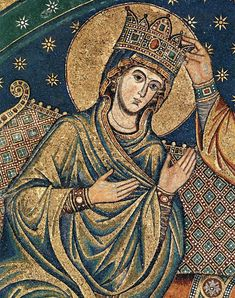 Jacopo Torriti : Incoronazione della Vergine ( dettaglio ) - 1296 - Santa Maria Maggiore, Roma