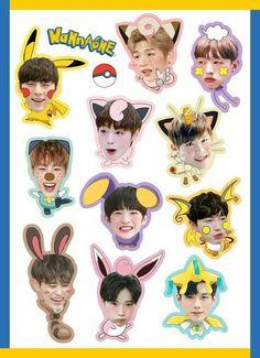 Wanna One ! Printable Stickers, Cute Stickers, Phone Stickers, K Pop, Jaehwan Wanna One, Fanart, Tumblr Stickers, Kpop Merch, Backrounds