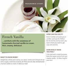 #fragranceoftheweek French Vanilla! Comforts with the sweetness of churned vanilla ice cream. Ricj, creamy, delicious!