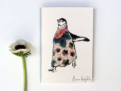 Penguin notebook by Anna Wright  https://annawright.co.uk/cards/notebooks/penguin-scribblebook.html