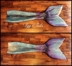 Handmade neoprene/silicone mermaid tail from Tigg's Tails. (They're on facebook)