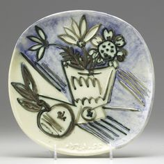 picasso ceramics catalog | lot 905 905 picasso madoura glazed ceramic plate view catalog