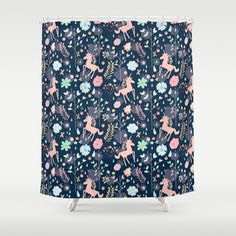 Unicorns+in+Hesperides+Shower+Curtain+by+Demi+Goutte+-+$68.00
