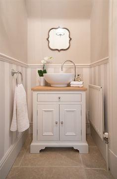 Washstand - perfect for small space. Neptune Washstand – perfect for small space. Neptune Washstand – perfect for small space. Downstairs Cloakroom, Downstairs Toilet, Bad Inspiration, Bathroom Inspiration, Neptune Bathroom, Lavabo Vintage, Baños Shabby Chic, Ideas Baños, Toilet Room
