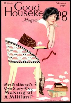 "Magazine Cover, ""Good Housekeeping"": February 1914, Coles Phillips."