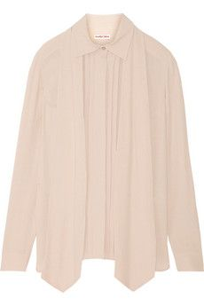 See by Chloé Pussy-bow crepe top $180 (original $400)  |  THE OUTNET
