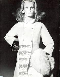 Vogue Italia, November 1965  Mila Schon coat, Coppola e Toppo fur and jewelry Photo by Giampaolo Barbieri