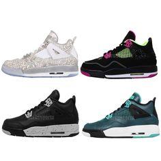 Nike Air Jordan 4 Retro 30th GG GS BG Boys Girls Kids Womens Shoes AJ4 Pick