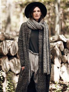Free People Slouchy Sweater Menswear Coat, NZ$300.09