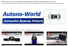 Autono-World is an online or digital marketing solutions focusing on promoting automotive business products and services. Publishing the electronics, hardware and software related seminars or workshops provided by the sponsors.