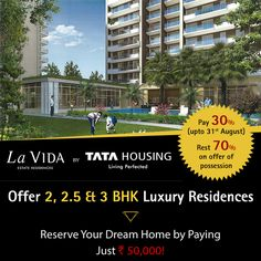 Tata Housing is putting on demonstrate Sample Flat of Tata La Vida to provide an actual experience of living in this community to its prospective buyers.