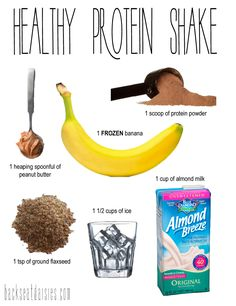 Healthy and yummy protein shake recipe - great for after a good workout