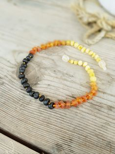 NATURAL BALTIC AMBER Necklace for Boys and Girls with Violin Pendant