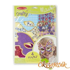 Melissa and Doug Simply Crafty - Marvelous Masks Kite Shop, Arts And Crafts, Paper Crafts, Melissa & Doug, Party Activities, Creative Play, Lany, Toys Shop, Craft Materials