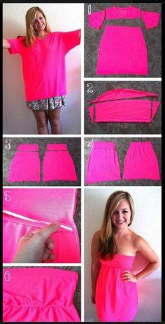 dress made of t shirt