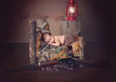 tan backdrop, rustic wood bed, newborn, (safe- non loaded gun prop)