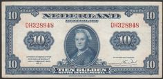 """Currently at the Catawiki auctions: The Netherlands - Banknote 10 Guilders 1943 II """"Wilhelmina"""""""