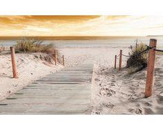Fotobehang vlies Strand steiger 312x219 cm