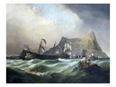 Clarkson Stanfield - Neptune, Towing The Victory Into Gibraltar Harbour After The Battle of Trafalgar Art Print. Explore our collection of Clarkson Stanfield fine art prints, giclees, posters and hand crafted canvas products Painting Frames, Painting Prints, Fine Art Prints, Paintings, Portsmouth, Hampshire, Art Commerce, Framed Artwork, Wall Art