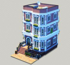 Sims 4 House Plans, Sims 4 House Building, Minecraft Building Designs, San Myshuno, The Sims 4 Lots, Sims 4 Challenges, New York Townhouse, Sims 4 House Design, Casas The Sims 4