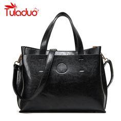 2016 Для женщин сумка через плечо Кроссбоди осень-зима кожа большой бренд черный письмо Повседневное дизайнерские женские Bolsas