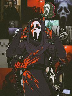 Cute Anime Wallpaper, Wallpaper Iphone Cute, Horror Movie Characters, Horror Movies, Ghostface Scream, Arte Lowbrow, Satanic Art, Ghost Faces, Arte Obscura