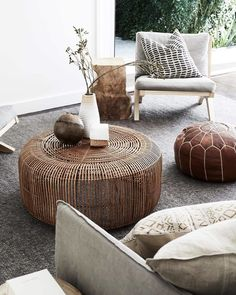Let's take a mental vacation and enjoy these wonderfully relaxing digs featuring our earthy Sierra Weave rug. Pic of…