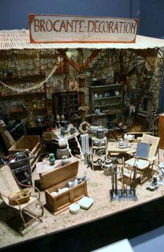 Miniature brocante. Musee Miniature et Cinema. Lyons, France.