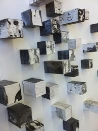 'Fragments' 50 lead, wood and paper cubes with etching and embossment. 'A Matter of Record' Embossed lead and etched japanese paper Sculpture 'Fragments' Fragments' 'Fragments' Farmer Painting, Instalation Art, Encaustic Art, Gcse Art, Art Plastique, Box Art, Altered Art, Art Lessons, Painting & Drawing