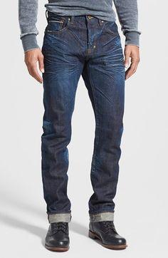 PRPS 'Demon' Slim Straight Leg Selvedge Jeans (6 Month) available at #Nordstrom