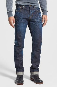 PRPS 'Demon' Slim Straight Leg Selvedge Jeans (6 Month) available at #Nordstrom