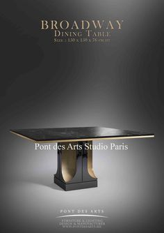 Gold Furniture, Table Furniture, Modern Furniture, Dining Table Sizes, Dining Table Chairs, Cafe Tables, Center Table, Studio Paris, Art Deco