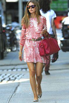Olivia Palermo con vestido de Asos