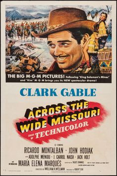 Movie Posters:Western, Across the Wide Missouri (MGM, 1951). One Sheet (2... Image #1