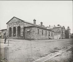 Phillip Street Police Station,corner of Phillip and Albert Streets,Circular Quay in November 1870,now The Justice and Police Museum.A♥W