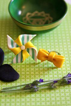 Sugar + Spice Design: polymer clay rings