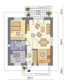 projekt domu C333f Miarodajny - wariant VI - Murator projekty House Plans, Floor Plans, Exterior, House Design, How To Plan, Chata, Tiny House Cabin, Projects, Homes