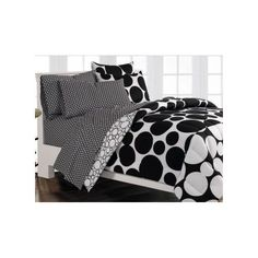 Bed in a Bag Set Comforter Shams Pillowcases Fitted & Flat Sheet Mini Dots Decor