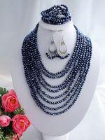 wedding crystal jewelry set