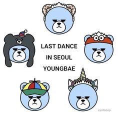 Bigbang Krunk, Gd Bigbang, Last Dance, Seoul, Kpop, Bear, Stickers, Comics, Cute