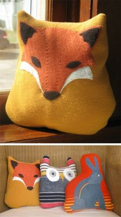 Felt animal pillows