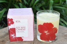 Sensual Hibiscus Soy Wax Candle by Organic Choice Soy Wax Candles, Candle Jars, Hibiscus, Organic, Pretty, Florals, Designers, Night, Spring
