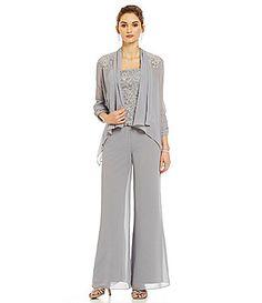 2a9fdcdfdf0 Emma Street Lace Chiffon Pant Set  Dillards Chiffon Pants