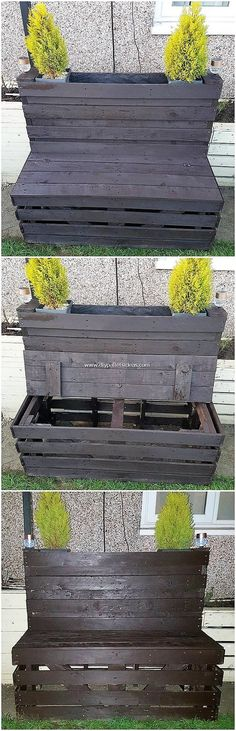 Mind Blowing DIY Pallet Ideas for Home Beauty - Pallet Benches - Wood Pallet Planters, Wood Pallet Recycling, Diy Pallet, Pallet Ideas, Pallet Projects, Diy Projects, Pallet Side Table, Wood Pallet Tables, Pallet Benches