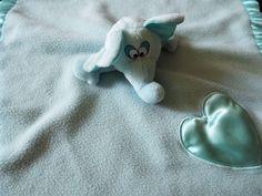 Baby Boom Elephant Musical Heart Security Blanket Lovey Rockabye Baby Aqua Blue #BabyBoom