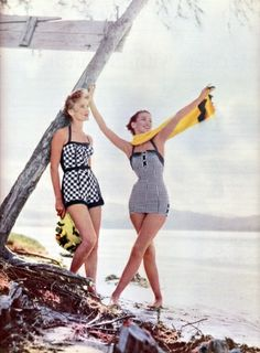 Bathing suits in Seventeen magazine,May 1954