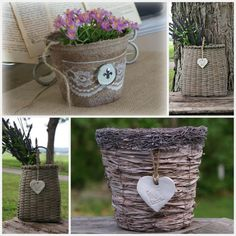 Baskets with clay Hearts
