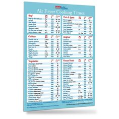 Air Fryer Cooking Times Magnet Healthy Kitchen Cooking Hot Air Frying Recipe CookBook Accessories Easy To Read Big Fonts Useful Gift for Dad Son Husband Wife Mom Daughter - Appliances Meat Cooking Times, Air Fryer Cooking Times, Cooking Games, Cooking Classes, Cooking Steak, Cooking Ribs, Cooking School, Cooking Salmon, Slow Cooking